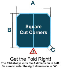 Hot Tub Cover Square Cut CornersCorners